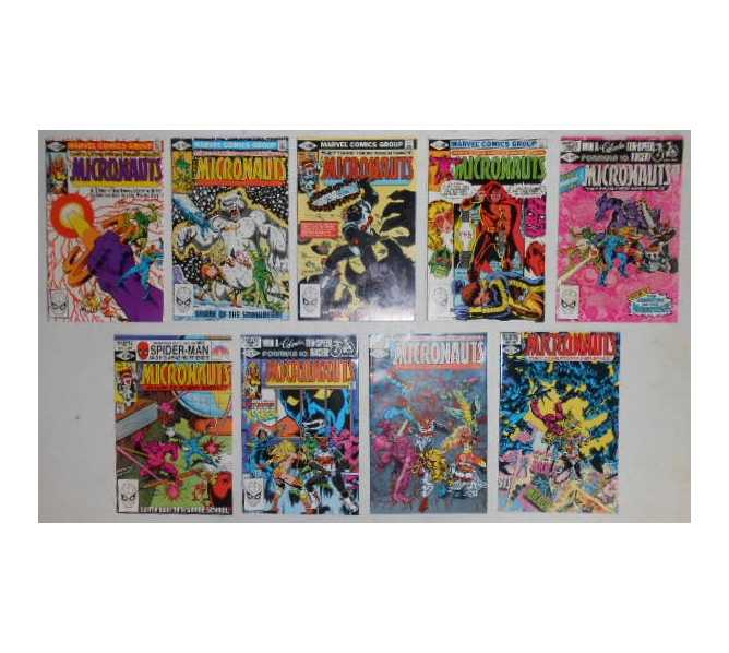 MICRONAUTS COMIC BOOKS LOT - ISSUES #31 through #39 for sale