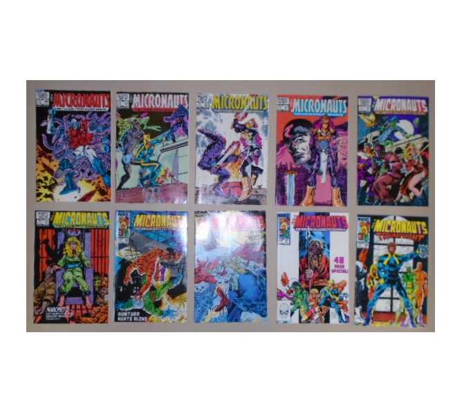 MICRONAUTS COMIC BOOKS LOT - ISSUES #49 through #58 for sale - 1979 1st Series MARVEL COMICS GROUP