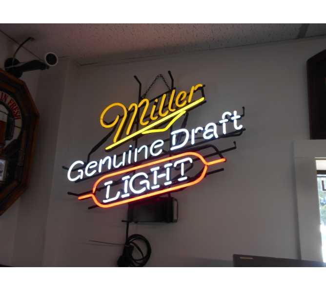 Miller Genuine Draft Light Neon Advertising Promotion