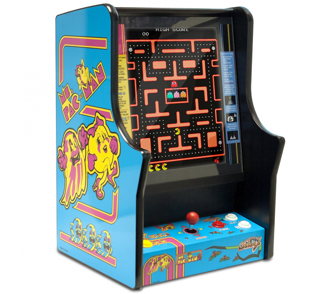 Ms. Pac-man Pacman and Galaga Bartop Countertop Home Arcade Machine Game for sale