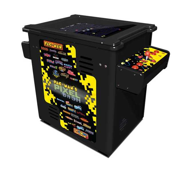 NAMCO PAC-MAN PIXEL BASH Arcade Machine Game BLACK CABINET COCKTAIL TABLE for sale