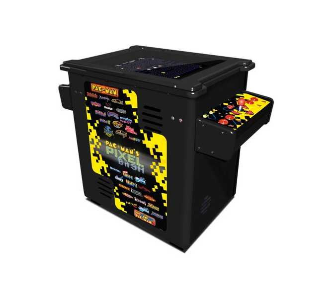 NAMCO PAC-MAN PIXEL BASH Arcade Machine Game BLACK or WOODGRAIN CABINET COCKTAIL TABLE for sale