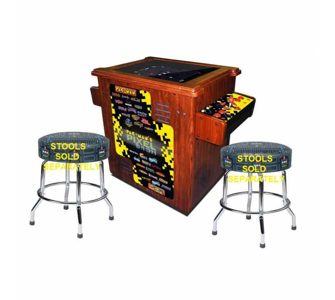 NAMCO PAC-MAN PIXEL BASH Arcade Machine Game WOODGRAIN CABINET COCKTAIL TABLE for sale
