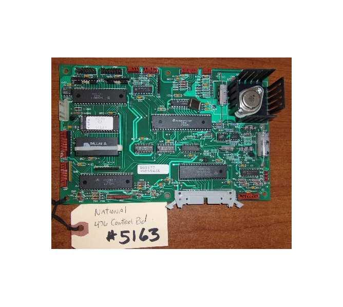NATIONAL VENDORS 476 Snack Vending Machine PCB Printed Circuit MAIN Control Board #5163 for sale