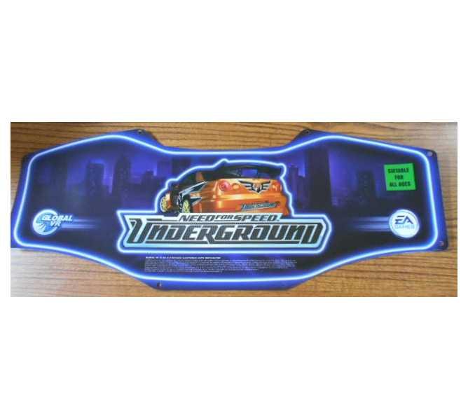 Need For Speed Underground Arcade Machine Game Header for sale #2