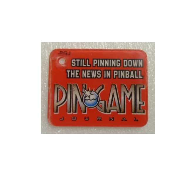 PIN GAME Original Pinball Machine Promotional Key Fob Keychain Plastic for sale