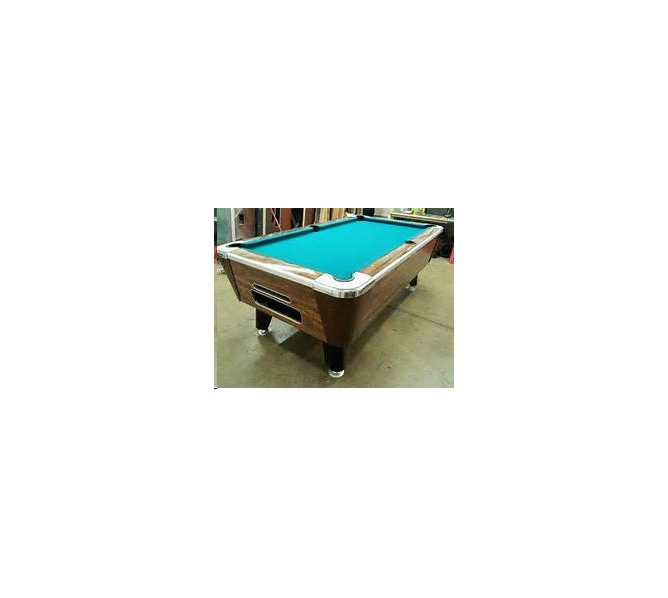 POOL TABLE 7' - COIN OPERATED or HOME USE - COMPLETE with NEW FELT & ACCESSORIES - LOCAL PICK-UP ONLY