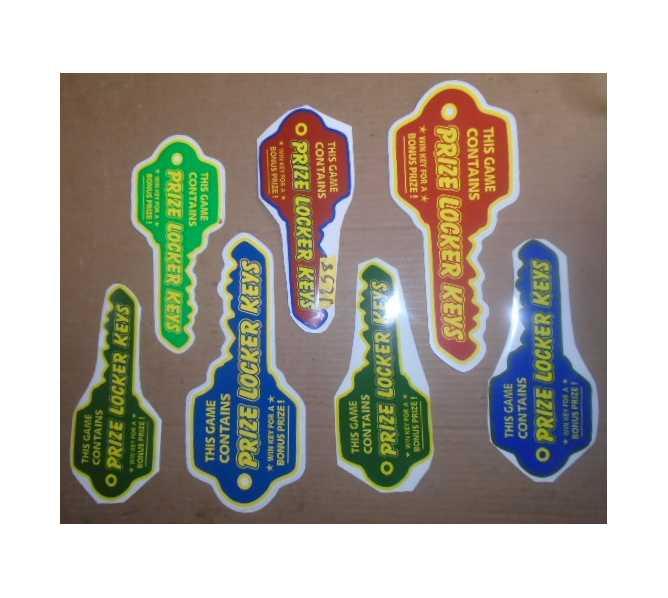 PRIZE LOCKER Redemption Machine Game KEY Decals #1258 for sale
