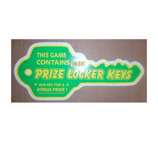 PRIZE LOCKER Redemption Machine Game LARGE KEY DECAL #1261 for sale