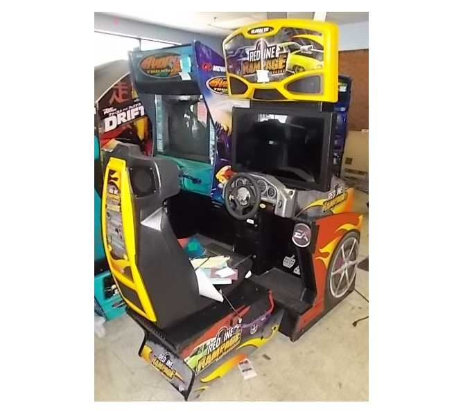 "GLOBAL VR REDLINE RAMPAGE 32"" Arcade Machine Game for sale"