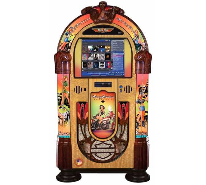 "ROCK-OLA AMERICAN BEAUTIES Nostalgic Bubbler 19"" Touchscreen Jukebox Music Center for sale"