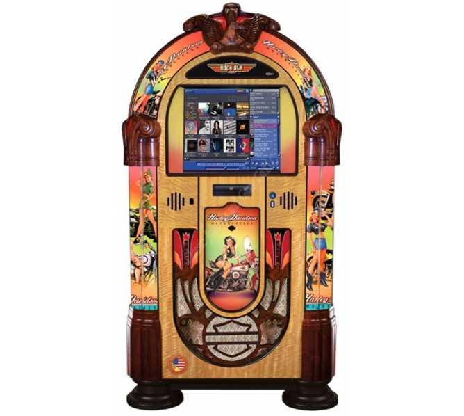 ROCK-OLA AMERICAN BEAUTIES Nostalgic CD Bubbler Jukebox for sale
