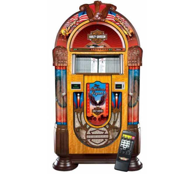 ROCK-OLA HARLEY DAVIDSON Nostalgic CD Bubbler Jukebox for sale