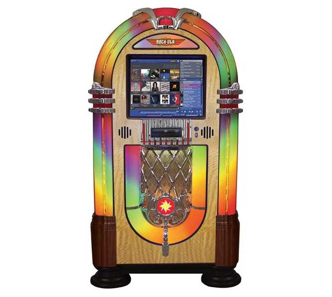 "ROCK-OLA Nostalgic Bubbler 19"" Touchscreen Jukebox Music Center for sale"