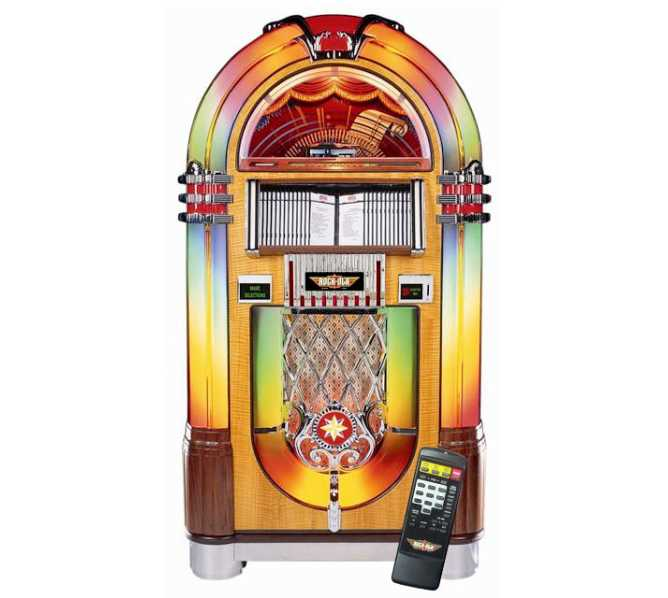 ROCK-OLA Nostalgic CD Bubbler Jukebox for sale - WALNUT FINISH