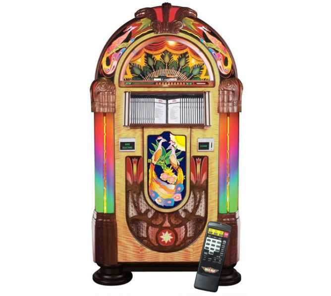 ROCK-OLA PEACOCK Nostalgic CD Bubbler Jukebox for sale