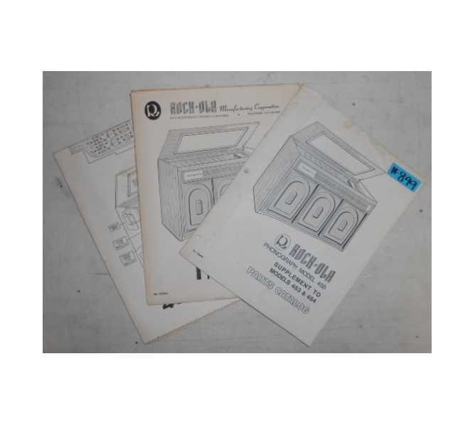 rock-ola model 456 jukebox parts catalog, wiring diagram & schematics for  sale