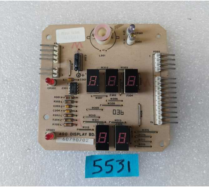 ROWE 4900 Coin Mech PCB Printed Circuit DISPLAY Board #6-07907-025270 (5531) for sale