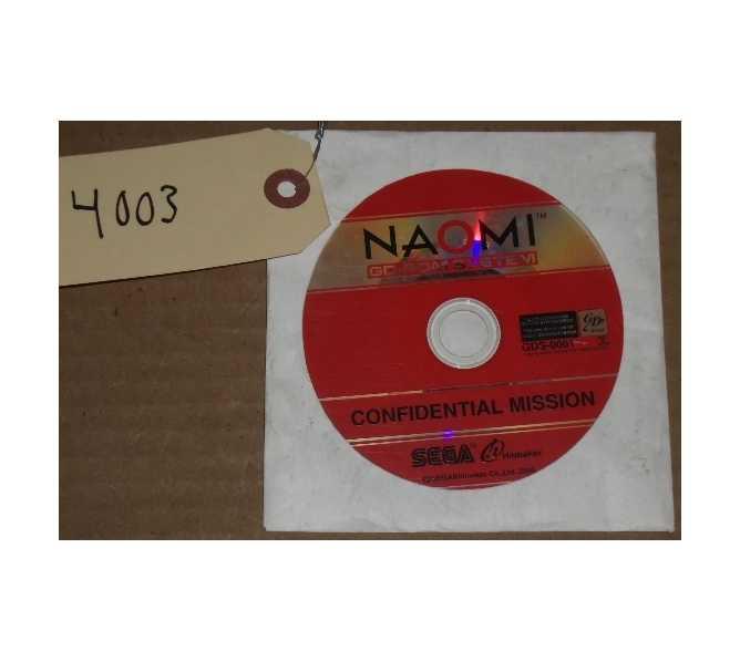 SEGA CONFIDENTIAL MISSION Arcade Machine Game CD ROM #4003 for sale