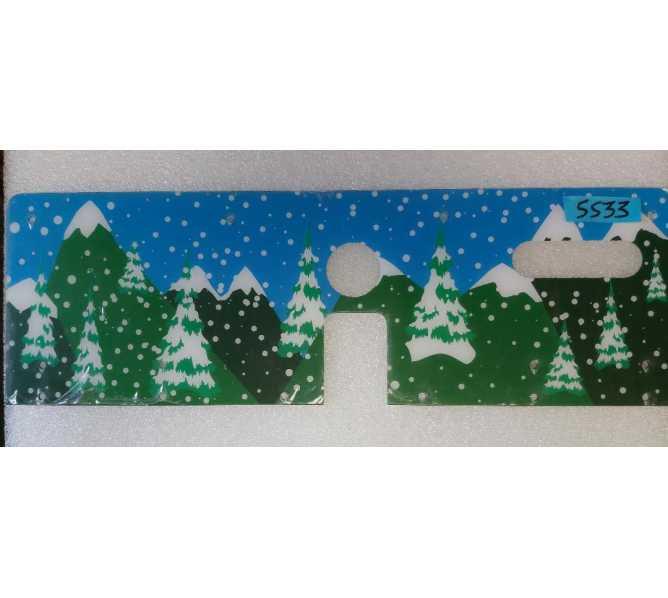 SEGA/STERN SOUTH PARK Pinball Machine Game PLAYFIELD BACKDROP PLASTIC PANEL #5533
