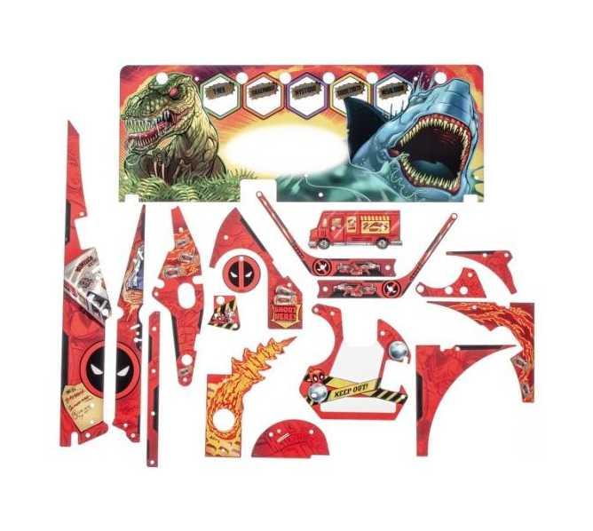 STERN DEADPOOL PRO Pinball Machine Game Complete Plastic Set - #803-5000-K1 for sale
