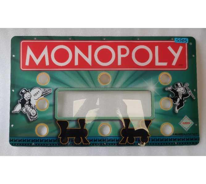 STERN MONOPOLY Ticket Redemption Arcade Machine Pexiglass Overhead Header Marquee #5505 for sale
