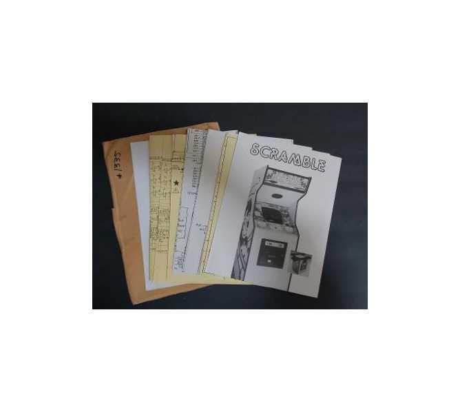 STERN SCRAMBLE Arcade Machine Game Schematics and Misc. Paperwork #1335 for sale