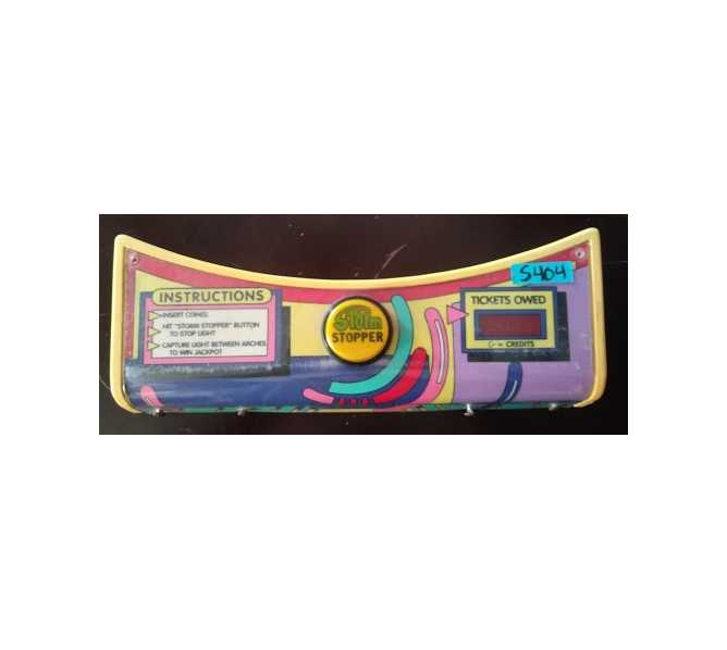 ICE CYCLONE Redemption Machine Game CONTROL PANEL #5404 for sale