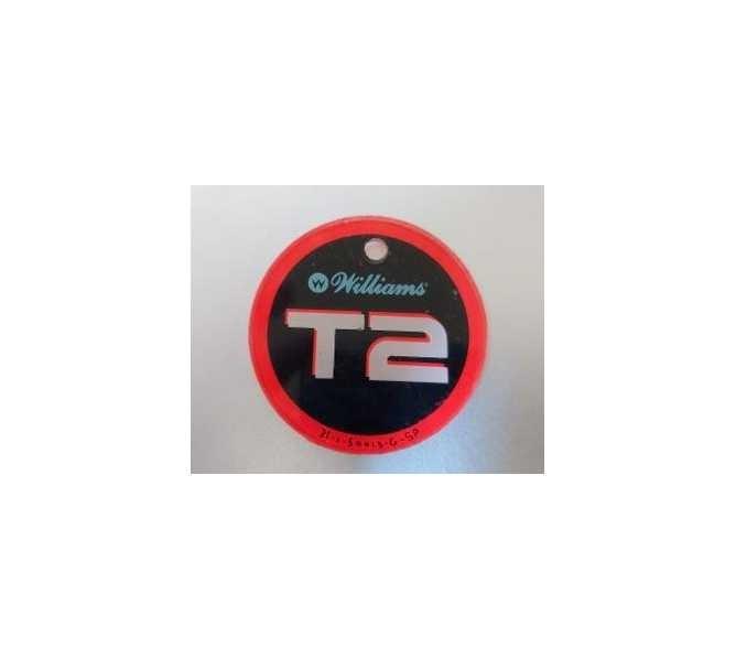 TERMINATOR 2 original pinball machine promotional key fob keychain plastic by Williams