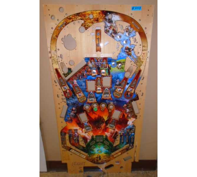 THE HOBBIT Pinball Machine Game Playfield #3000 for sale by Jersey Jack - NEW