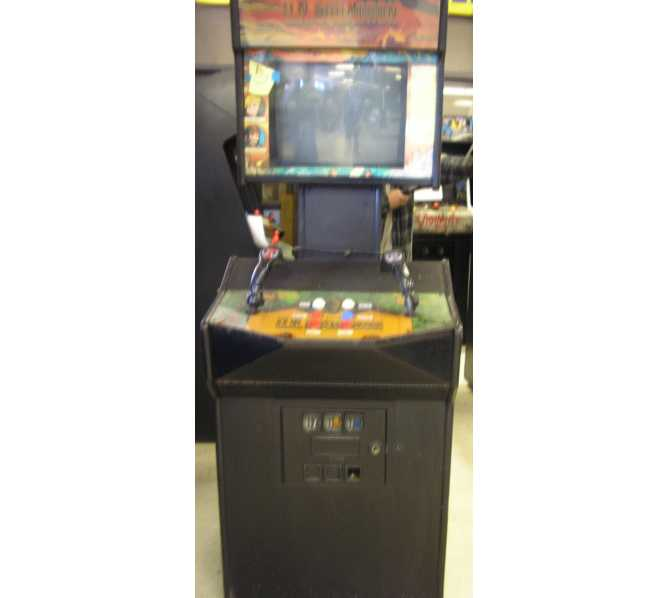 U.N. SQUADRON Arcade Machine Game for sale by CAPCOM - MILITARY SIDE-SCROLLING SHOOTER