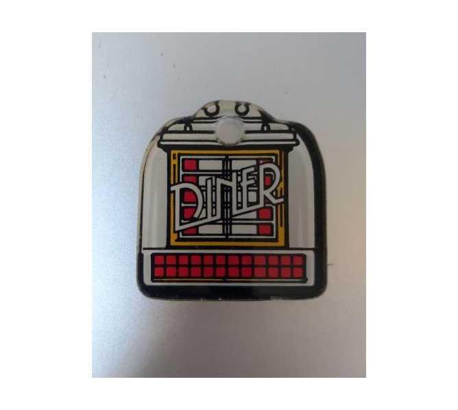 WILLIAMS DINER Original Pinball Machine Promotional Key Fob Keychain Plastic