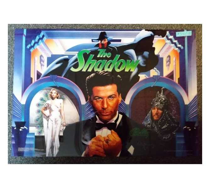 WILLIAMS THE SHADOW Pinball Machine Game Translite Backbox Artwork - #5408 for sale