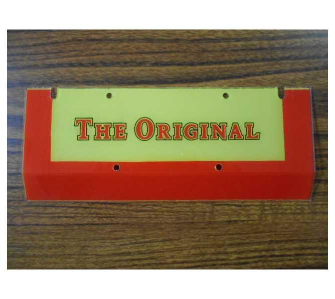 WURLITZER Jukebox Genuine Parts Name Plate Plastic