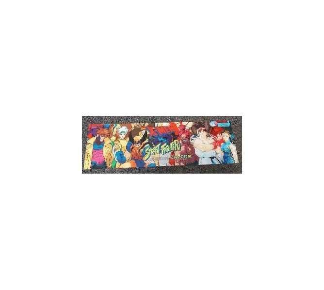 X-MEN vs. STREET FIGHTER Arcade Machine Game Overhead Header PLEXIGLASS for sale #5456