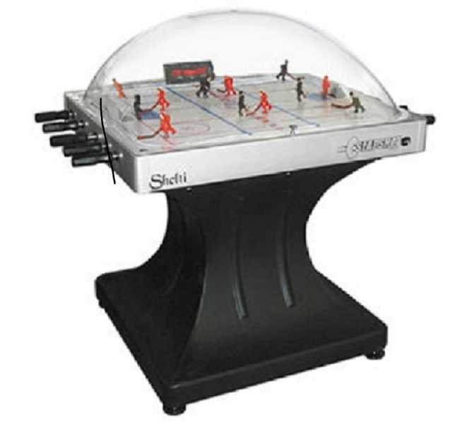 SLAPSHOT Bubble Dome Hockey Coin-Op Table by Shelti