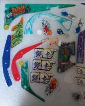 BALLY SAFE CRACKER Pinball Machine Game Partial Plastic Set #5518 for sale