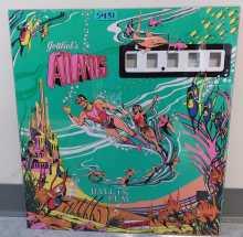 GOTTLIEB ATLANTIS Pinball Machine Game Backglass #5431