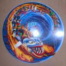 Hurricane Pinball Machine Game Screened Art Spinning Disc Backbox Artwork Translite #1233 for sale