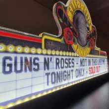Jersey Jack GUNS 'N ROSES LE SE Pinball Machine Game Backbox Topper