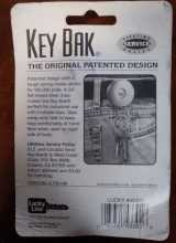 KEY-BAK Original Retractable Key Holder #43301 with a Chrome Front, Steel Belt Clip, Split Ring for sale