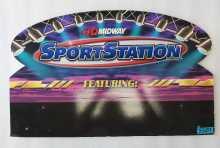 MIDWAY SPORT STATION Arcade Machine Game Overhead Header CARDBOARD #5507 for sale