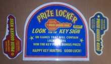 PRIZE LOCKER Redemption Machine Game HEADER & DECAL Set #1260 for sale by SEGA - NEW
