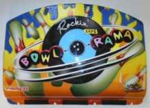 ROCKIN' BOWL-O-RAMA Arcade Machine Game MOLDED PLASTIC HEADER MARQUEE TOPPER #3008 for sale