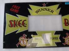 SKEE-BALL Arcade Machine Game Plexiglass Backglass Backbox Artwork #5504 for sale