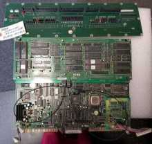 Sega OUT RUNNERS Arcade Machine Game PCB Printed Circuit MAIN & FILTER Boards #5462