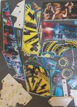 Stern AC DC PRO Pinball Machine Game Incomplete (61 pc.) Plastic Set #5528
