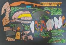 Williams INDIANA JONES Pinball Machine Game PARTIAL (36 pc.) Plastic Set #5527